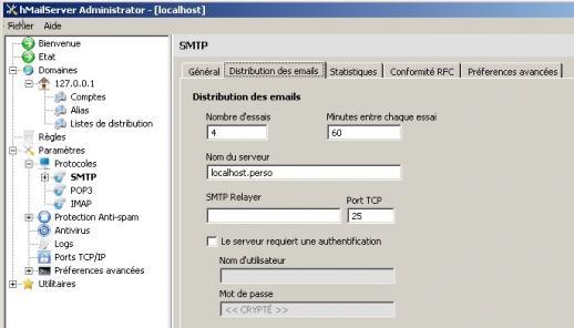 Installer hMailServer avec easyPHP - Formations et